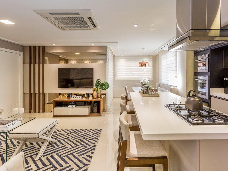 Apartamento Moderno em tons neutros