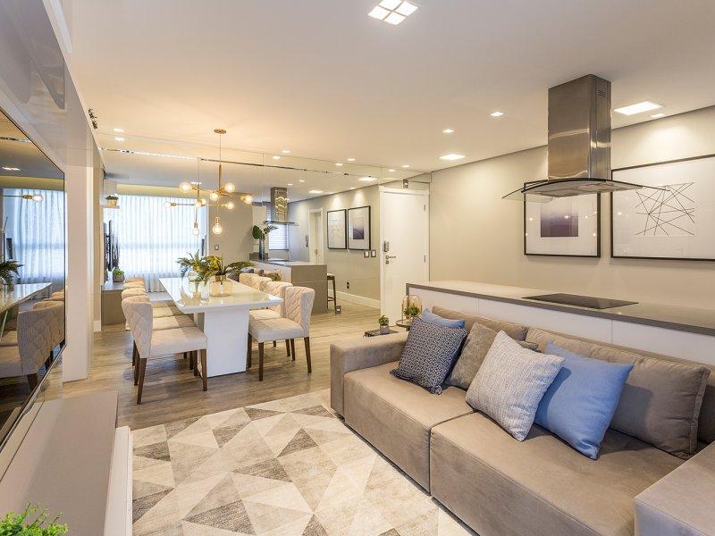 Apartamento clean em tons neutros